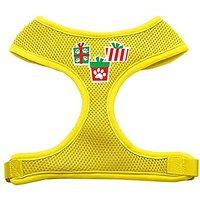 Mirage Pet Products Presents Screen Print Soft Mesh Dog Harnesses, Medium, Yellow