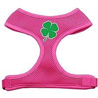 Mirage Pet Products Shamrock Screen Print Soft Mesh Dog Harnesses, X-Large, Pink