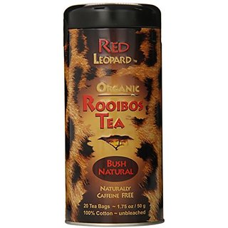 Red Leopard Organic Rooibos Natural Bush Tea, 1.75-Ounce, 20-Count Tea Bags
