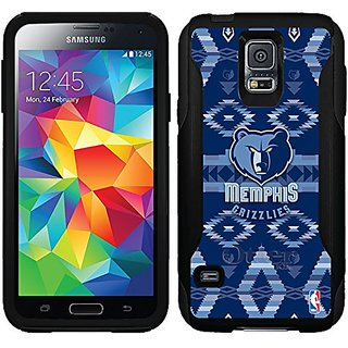 Coveroo Memphis Grizzlies Tribal Print Design Phone Case for Samsung Galaxy S5 - Retail Packaging - Black