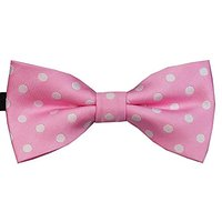 Heypet Colorful Dots Bow Tie, Adjustable Bowtie Fashion Accessories For Pet Dog Cat DLJ06 (pink)