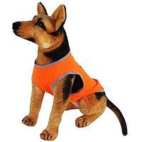Mewowpet Dog Shirt Summer T-shirt,Breathable Cotton Mesh,for Pet Dogs (Medium,Fluorescent Orange)