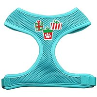 Mirage Pet Products Presents Screen Print Soft Mesh Dog Harnesses, Large, Aqua