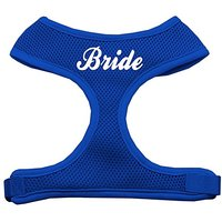 Mirage Pet Products Bride Screen Print Soft Mesh Dog Harnesses, Small, Blue