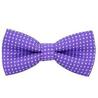 Colorful Polka Dots Bow Tie, Adjustable Bowtie Fashion Accessories For Pet Dog Cat DLJ29 (Violet)