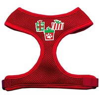 Mirage Pet Products Presents Screen Print Soft Mesh Dog Harnesses, Medium, Red