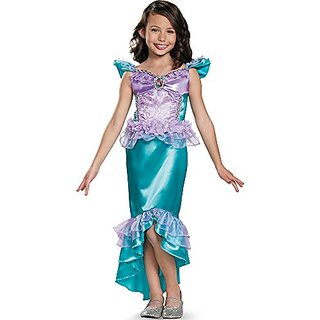 Disguise Ariel Classic Disney Princess The Little Mermaid Costume, Small/4-6X