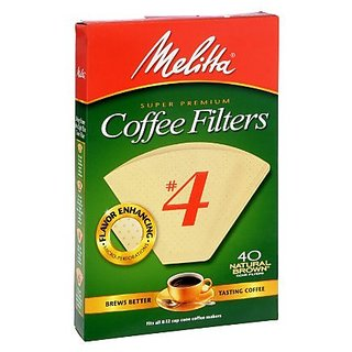 Melitta Super Premium #4 Natural Brown Coffee Filters, 40 ct (Pack of 6)