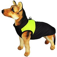 Mewowpet Padded Warm Winter Jacket Dog Coat For Small Puppy And Medium Dog(Fluorescent Green,XLL)