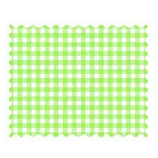 SheetWorld Primary Green Gingham Woven Fabric - By The Yard