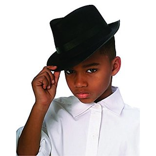 Rubies Black Fedora Child Hat, Black