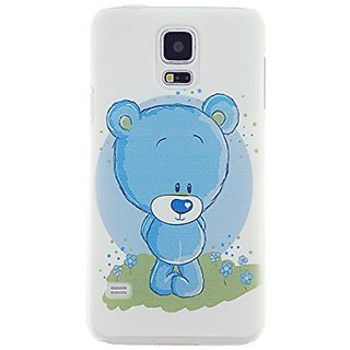 CaseBee - Cute Blue Bear Samsung Galaxy S5 i9600 SM-G900 Case - Perfect Gift (Package includes Screen Protector)