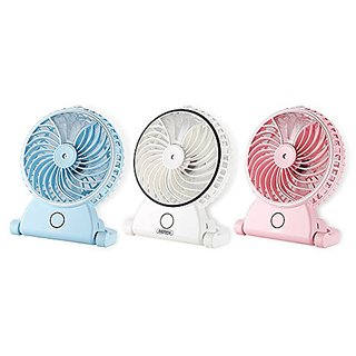 WANHUA Portable USB Mini Rechargeable Water Spray Desktop Misting Fan with Cooling Diffuser Cool Mist Air for Travelling