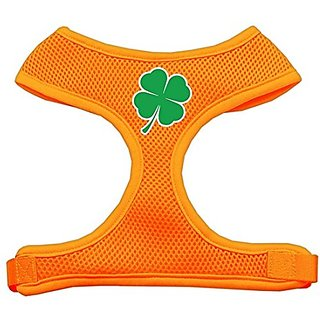 Mirage Pet Products Shamrock Screen Print Soft Mesh Dog Harnesses, X-Large, Orange