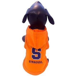 NCAA Syracuse Orange Cotton Lycra Hooded Dog Shirt, X-Small Orange/Blue