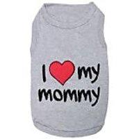 Parisian Pet I Love Mommy Dog T-Shirt, 5X-Large