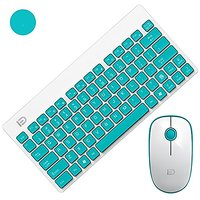 SROCKER G1500 2.4GHz Wireless Whisper-Quiet Portable Keyboard And Mouse Combo No Laser Light Mouse With 2-in-1 Nano Rece