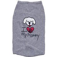 Kool Tees I Love My Mommy Dog Tee, Large