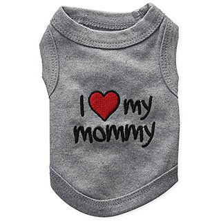 Pet Clothes I LOVE MY MOMMY Dog T-Shirt - Small