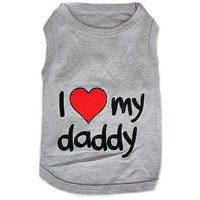 Parisian Pet I Love Daddy Dog T-Shirt, 3X-Large