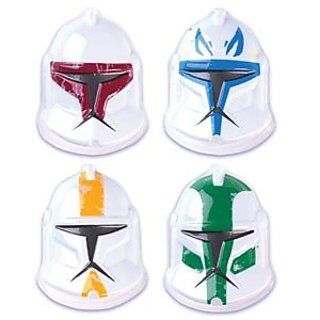 Star Wars Clone Wars Helmet Pop Top Cake Topper 4-pc Set