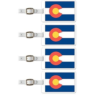 Tag Crazy Colorado Premium Luggage Tags Set Of Four, Red, One Size