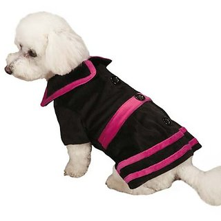 Zack & Zoey Heritage Collection Velvet Dog Coat, XX-Small, Black