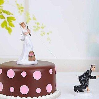 Resin Wedding Cake Topper (Bride Fishing)