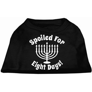 Mirage Pet Products Spoiled for 8 Days Screen Print Dog Shirt, X-Large, Black