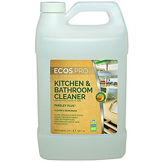 Earth Friendly Products Proline PL9746/04 Parsley Plus All-Purpose Kitchen-Bathroom Cleaner-Degreaser, 1 gallon Bottles