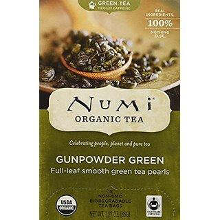 Temple Of Heaven GunPowder Green Tea - Tea Box, 18 bag,(Numi)