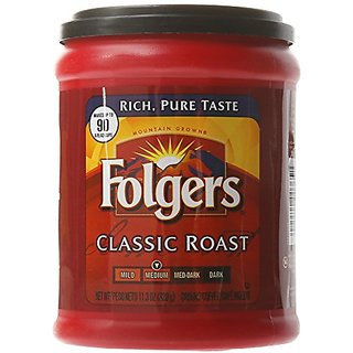 Folgers Classic Roast Coffee, 11.3 Ounce (Pack of 2)