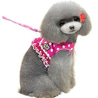 Alfie Pet By Petoga Couture - Ellie Step-in Harness And Leash Set - Color: Hot Pink, Size: Large