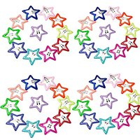 """Rimobul 1.2"""" Candy Color Mini Star Yorkie Pet Hair Clip - Pack Of 40"""