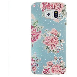 CaseBee Flower Series - Pretty Floral Flowers Print Samsung Galaxy S6 SM-G920 Case - Perfect Gift (Package includes Scre