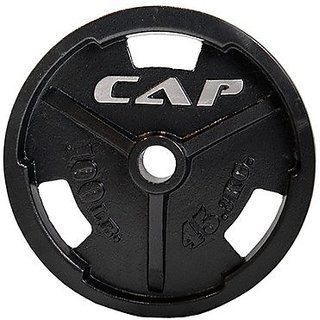 CAP Barbell Machined Olympic Grip Plate, Black, 2.5 lb