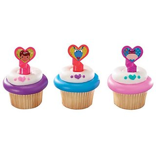 1 X 24 ~ Doc McStuffins & Friends Rings ~ Designer Cake/Cupcake Topper ~ New!!!!!