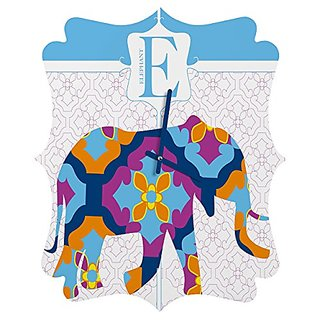 DENY Designs Jennifer Hill Elephant 3 Quatrefoil Clock, Small