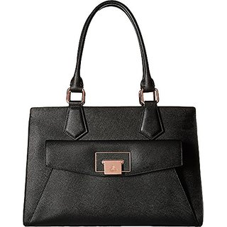 Vivienne Westwood Womens Opio Saffiano Black Briefcase