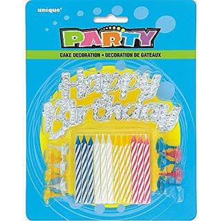 1 X Birthday Cake Topper