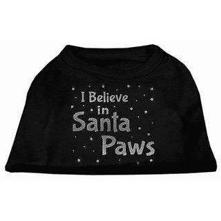 Mirage Pet Products Screen Print Santa Paws Pet Shirt, Small, Black
