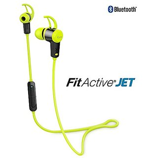 ILUV FITACTJETGN Fitactive Jet Wireless Sport Headphones with Microphone (Green)
