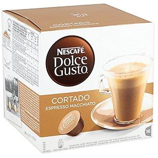 Nescaf? Dolce Gusto Cortado Espresso Macchiato (Pack of 3, Total 48 Capsules)