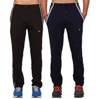 Rohilla  Grey And Black Mens Cotton Trackpants  Pack Of 2