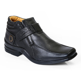 Red Chief Black Men Low Ankle Casual Leather Shoes (RC1299 001)