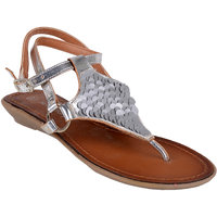 Berry Purple Women's Silver Buckle Sandals