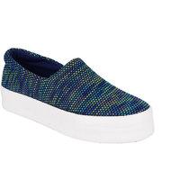 Berry Purple Women's Blue Casual Slip On Shoes