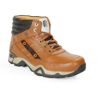 Red Chief Rust Men High Ankle Outdoor Casual Leather Shoes (RC1354R 022)
