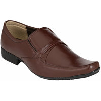 Shoe Day Men Brown Lace-Up Formal Shoes