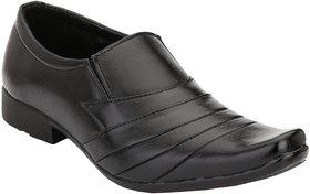 Shoe Day Men Black Slip On Formal Shoes